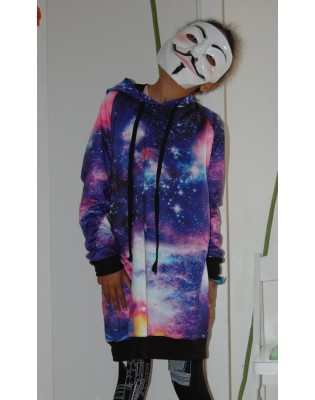Sweat capuche Galaxie