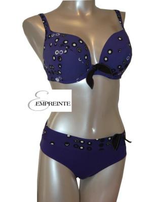 Empreinte Maillot 2 Pièces marguerite Violette de face