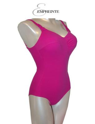 Empreinte maillot de bain 1 pièce rose glamour profil