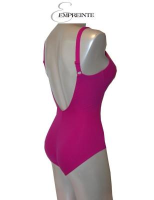 Empreinte maillot de bain 1 pièce rose glamour profil arrière