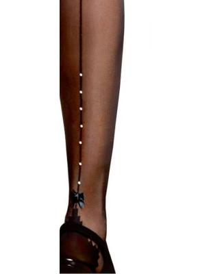 détail Collant couture a strass et noeud