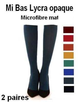 Mi Bas Opaque Microfibre pétrole