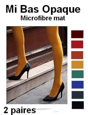 Mi Bas Opaque Microfibre moutarde