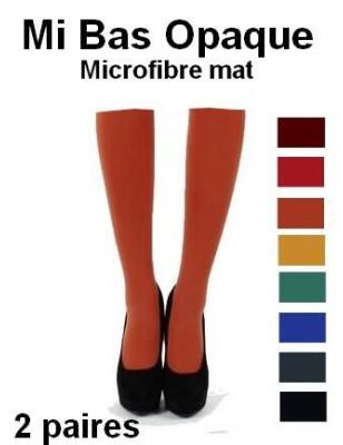 Mi Bas Opaque Microfibre rouille