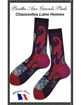 Chaussettes Berthe aux grands pieds Art Deco homme