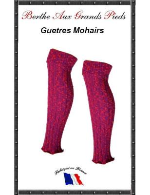 Guetres Mohair Berthe aux grands pieds fushia