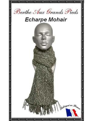 Echarpe Mohair Berthe Aux grands Pieds grise