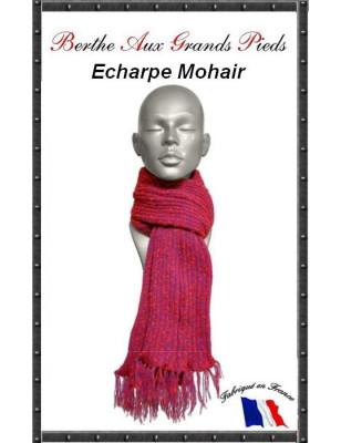 Echarpe Mohair Berthe Aux grands Pieds fushia