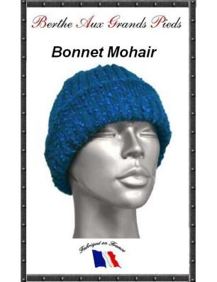 Bonnets Mohair Berthe aux grands Pieds bleu