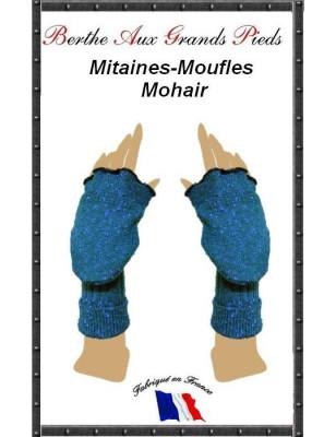 Mitaines Rabats Mohair Berthe aux grands pieds cobalt