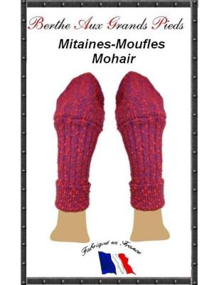 Mitaines Rabats Mohair Berthe aux grands pieds fushia
