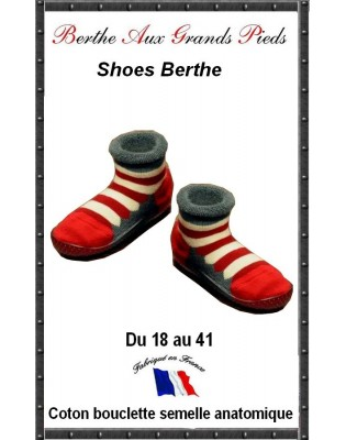 Chausson a rayures Berthe aux grands Pieds