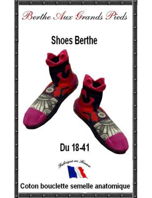 Chausson art Deco Berthe aux grandds pieds