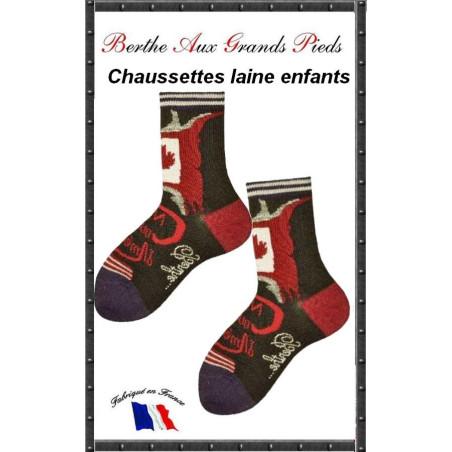 Chaussettes Layette en laine Berthe aux grands pieds canada