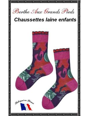 Chaussettes Layette en laine Berthe aux grands pieds Art déco