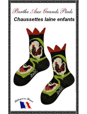 Chaussettes Laine Juniors Berthe aux grands PIeds coq
