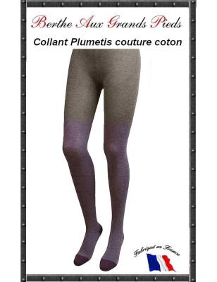 Collant plumetis Vénitien couture Berthe aux grands pieds prune