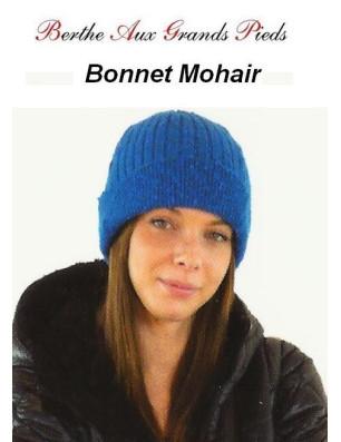 Bonnets Mohair Berthe aux grands Pieds bleu vif