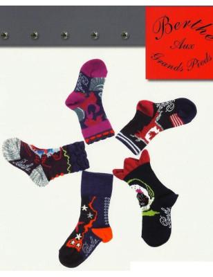 Chaussettes Layette en laine Berthe aux grands pieds