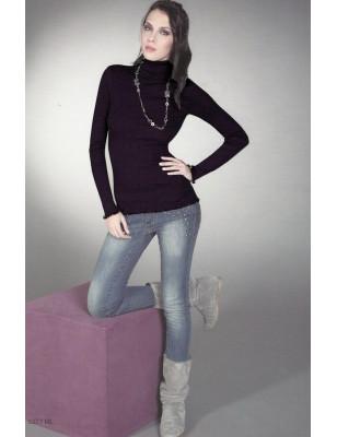 T-shirt ML col montant Moretta 5377 fine laine