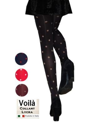 Collant à Pois Rigolos bicolores noir