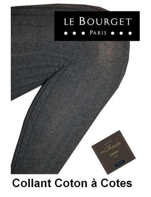 Collant Le bourget Coton Cotes Angela antracithe