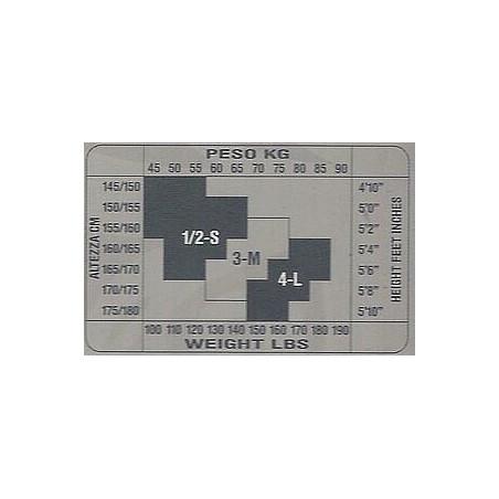 Collant Ouvert en tulle et dentelle Sx174 grille de taille