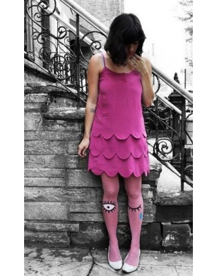 Collant Les Queues de sardines Polly Hot pink