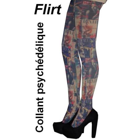 Collant Flirt Magazine psychédélque