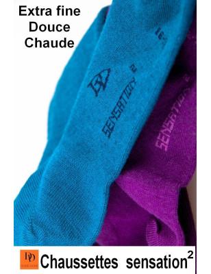 Chaussettes Sensation Doré Doré laine et coton
