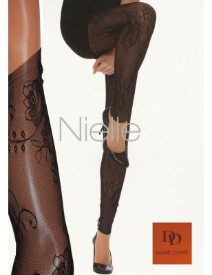 Legging en fine dentelle Doré-Doré