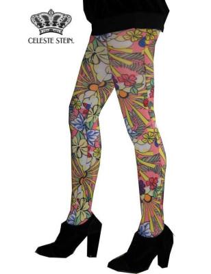 Collant Celeste Stein fleurs de paradis