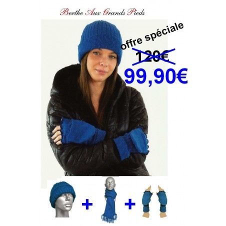 Ensemble Mohair Berthe Aux grands Pieds bleu