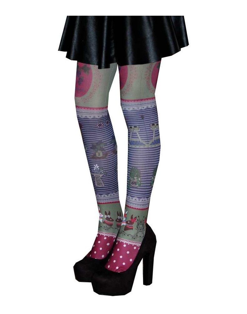 Collants les p'tits Caprices patchwork profil