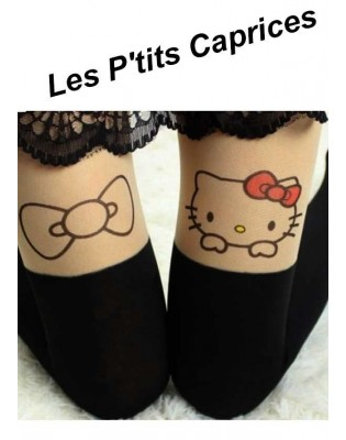 Collants les p'tits Caprices Hello Kitty