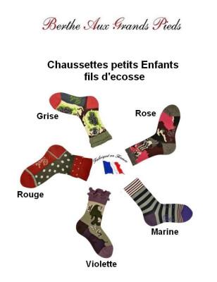 Chaussettes Layette fil d'ecosse Berthe aux grands pieds