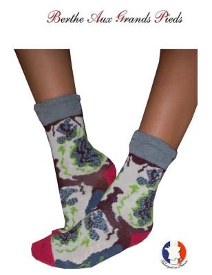 Chaussettes Layette fil d'ecosse Berthe aux grands pieds grise
