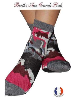 Chaussettes Layette fil d'ecosse Berthe aux grands pieds rose