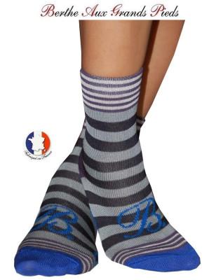 Chaussettes Layette fil d'ecosse Berthe aux grands pieds marine