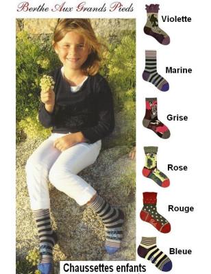 Chaussettes fil d'ecosse Juniors Berthe aux grands PIeds
