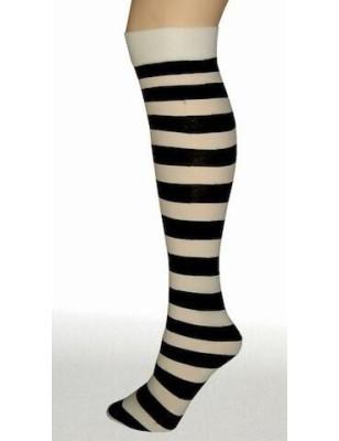 Mi Bas Twickers Pamela Mann rayures bi-colores blanc