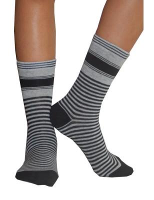 chaussettes Rayées bicolores Dim noires