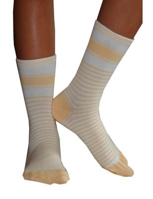 chaussettes Rayées bicolores Dim soleil