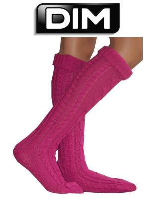 Home Socks Dim tricotées fushia