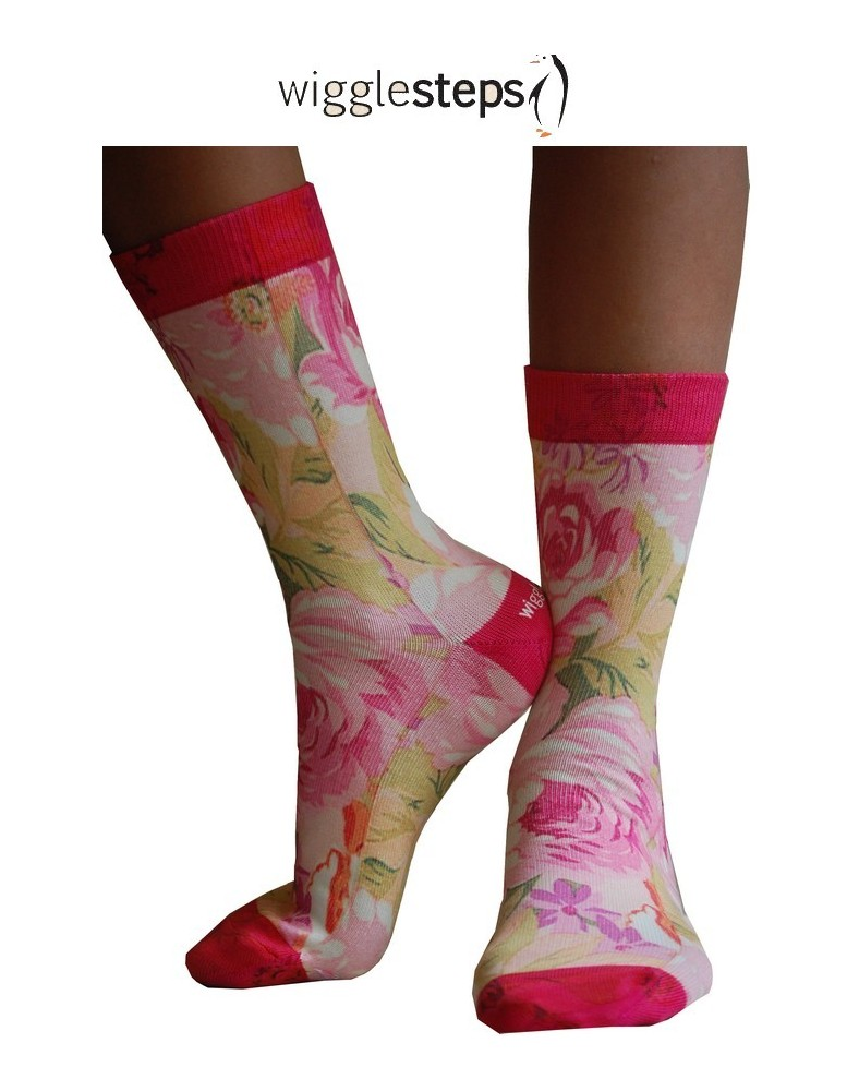 Chaussettes Wigglesteps Roses disco