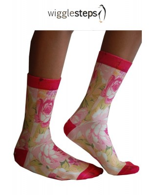 Chaussettes Wigglesteps Roses disco profil