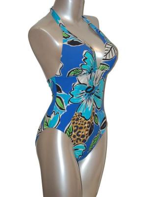 Empreinte nageur tropical bleu profil