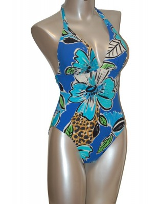 Empreinte nageur tropical bleu face