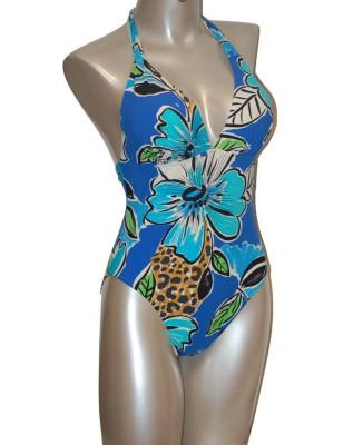 Empreinte nageur tropical bleu face