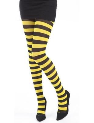 Collant Pamela Mann Rayures bicolores jaune